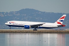 British Airways Boeing 777 -200 G-YMMG port profile, landing ADSC_0543