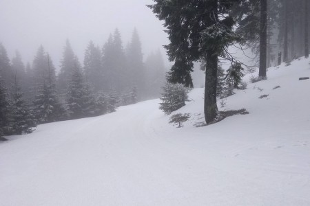 Zima se nevzdává, stále můžete vyrazit na lyže