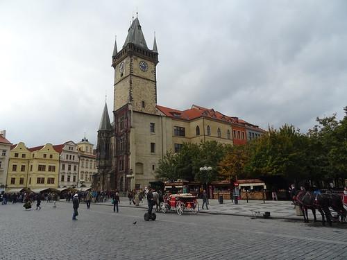Praha, České republiky (the art of very historical buildings and places in the core of downtown Prague), Staroměstské náměstí (Staroměstská radnice/Old Town Hall/Altstädter Rathaus)