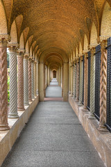 Monastic corridor at the Franciscan monastery