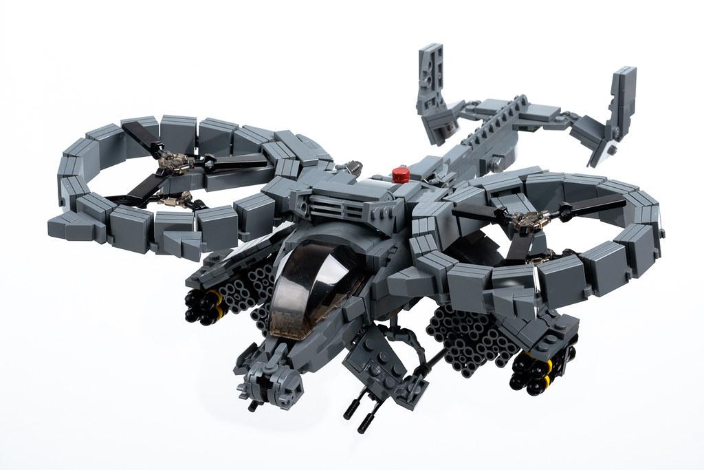 "AT-99 ""Scorpion"" Gunship (from ""Avatar"") (custom built Lego model)"