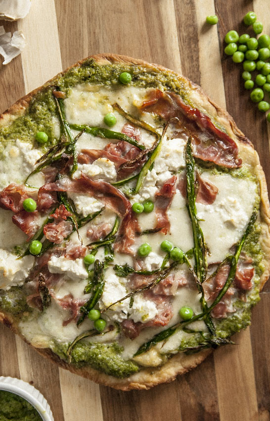 Pea and Mint Pizza 2