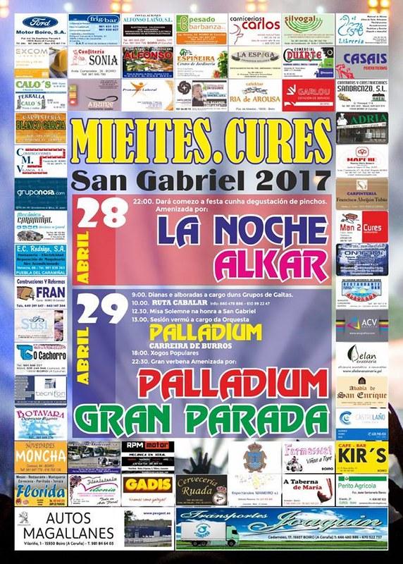Boiro 2017 - Festas de San Gabriel en Mieites - Cures - cartel