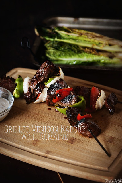 Grilled Venison Kabobs with Romaine from PasstheSushi