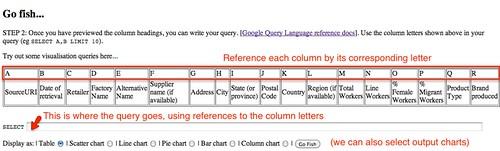 google spreadsheet query form
