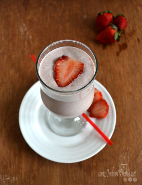 Strawberry and Oats Milkshake Recipe