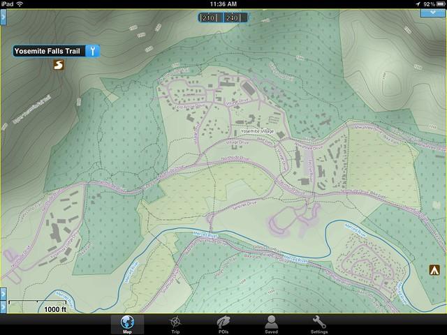 OpenHiking map of Yosemite