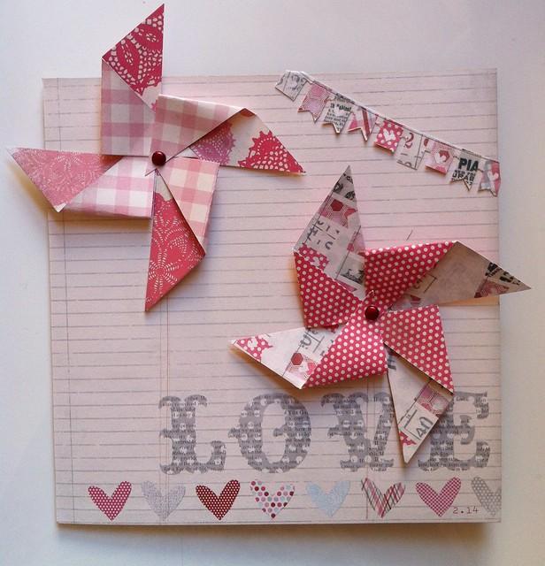 paper windmills - paper windmill card