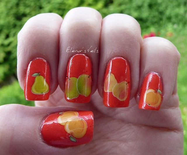fruit decals nail art 2