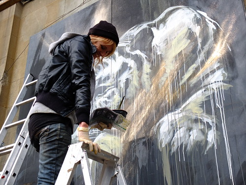 Faith47 at work, Shoreditch, London by milone