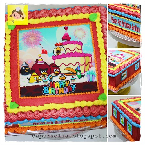 Opera Cake with Angry Birds Edible Image