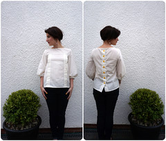 Mathilde blouse avec French seams