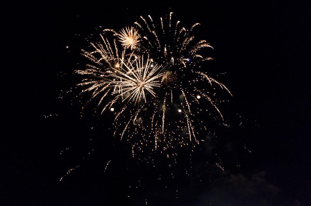 Canada Day. Fireworks. Medicine Hat, AB