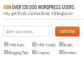 WPBeginner's opt-in form