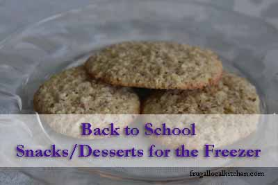 Back to School: Snacks/Desserts for the Freezer
