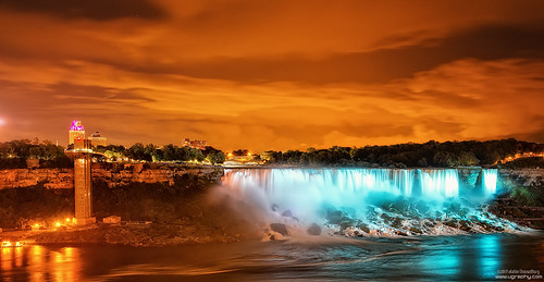lighting travel summer ontario canada reflections river landscape lights niagarafalls cityscape outdoor north places niagara falls nightsky lonngexposure