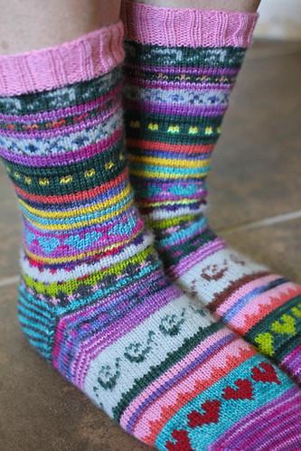 Happy Stranded Socks