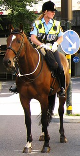 Police woman on horseback