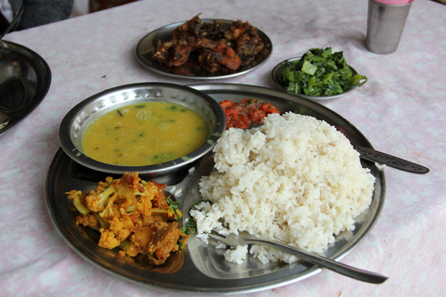 Dal baht on the Ghorepani Poon Hill trek