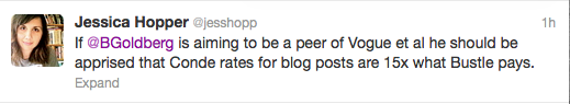 screenshot of tweet from Jessica Hopper
