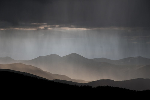 sunset summer storm mountains rain colorado rockymountains mtevans