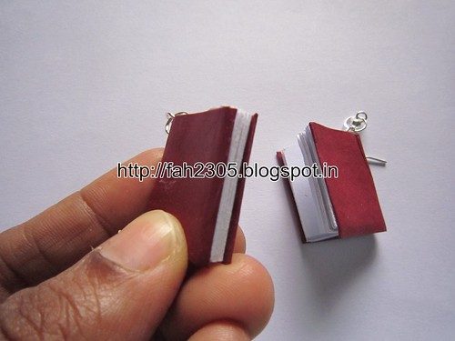 Handmade Jewelry - Paper Book Earrings (Big) (2) by fah2305