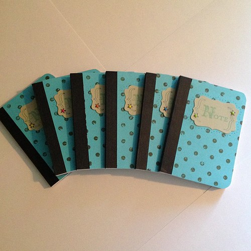 6 mini notebooks for the pastors wives gift baskets #stampinup