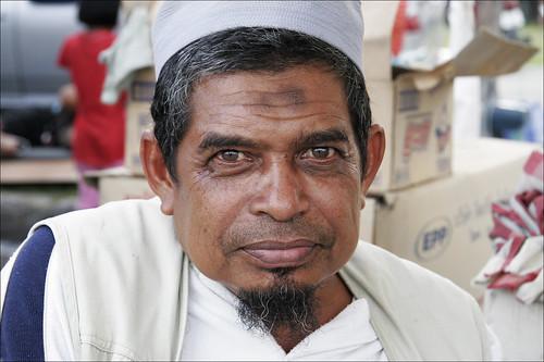 Muslim man at the Phuket Halal Expo