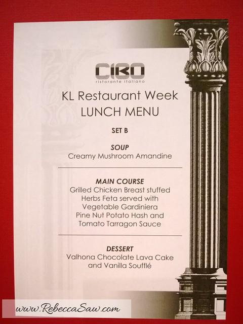 kl restaurant week 2013 - rebeccasaw - cibo subang holiday villa-005
