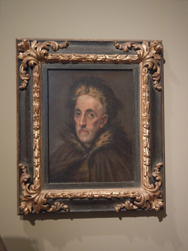 DSCN7670 _ Portrait of an Old Man with Fur  (Manusso Greco?), c. 1590-1600, Domenikos Theotokopoulos, called El  Greco (1541-1614), Norton Simon Museum, July 2013