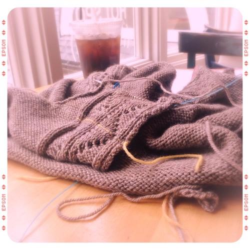 Sweater Progress 3