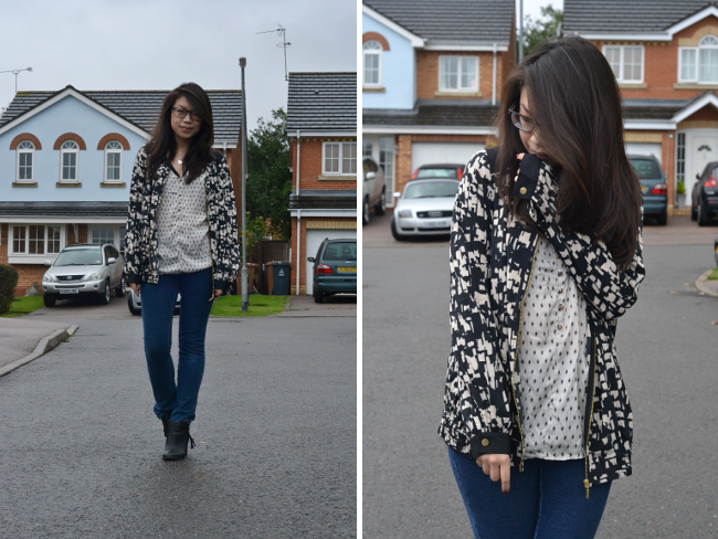 Daisybutter - UK Style and Fashion Blog: what i wore, very.co.uk, definitions, print clash, aw13, fashion blogger, uk fashion blogger