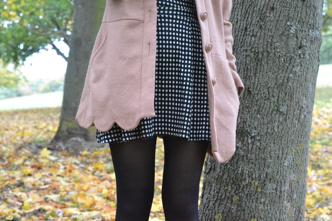 Daisybutter - UK Style and Fashion Blog: what i wore, ootd, autumn style, scallop edge coat, fluffy jumper, patent loafers, high street fashion blog