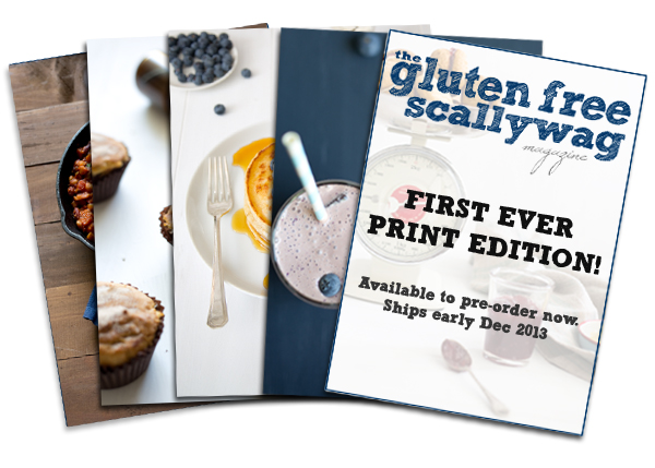 The Gluten Free Scallywag Magazine 2013 Print Announcement
