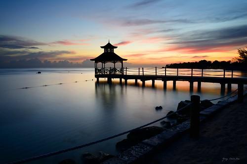 beach sunrise jamaica montegobay mobay nikond800 pwpartlycloudy