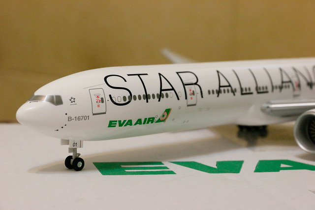 長榮 EVA Air Star Alliance Livery 777-300ER 模型開箱  星空聯盟標誌