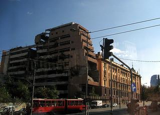 Natobomben Ruinen in Belgrad