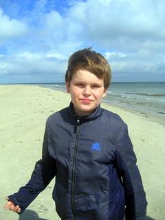 John am Strand