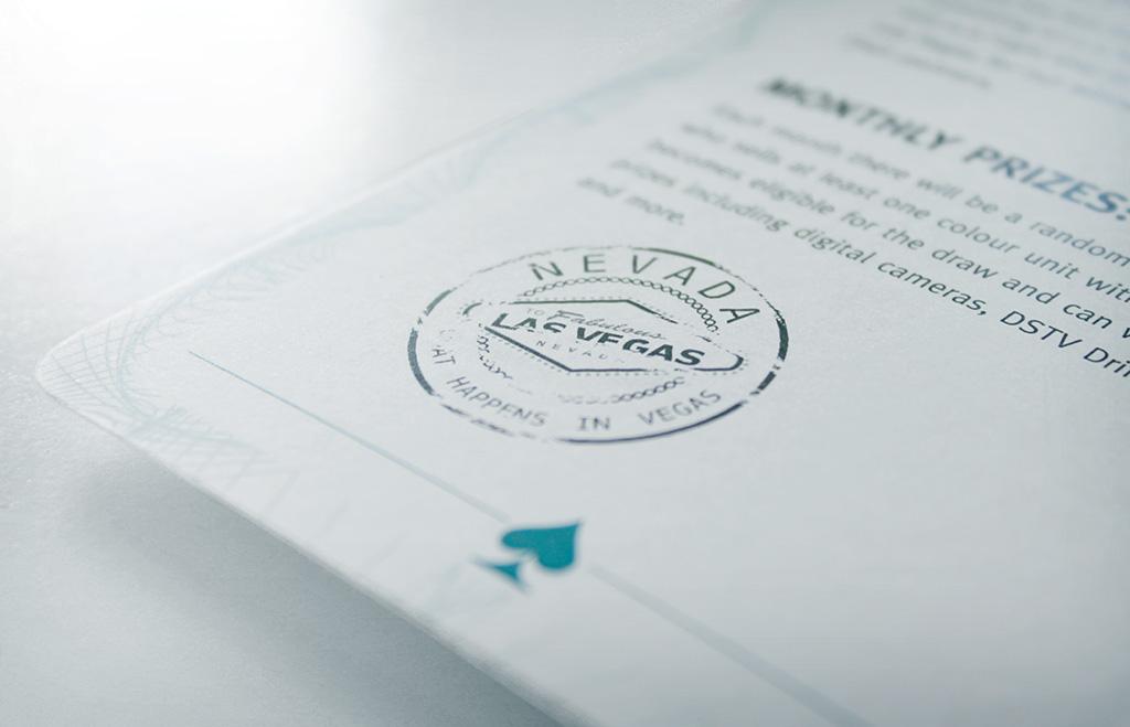 Passport page detail