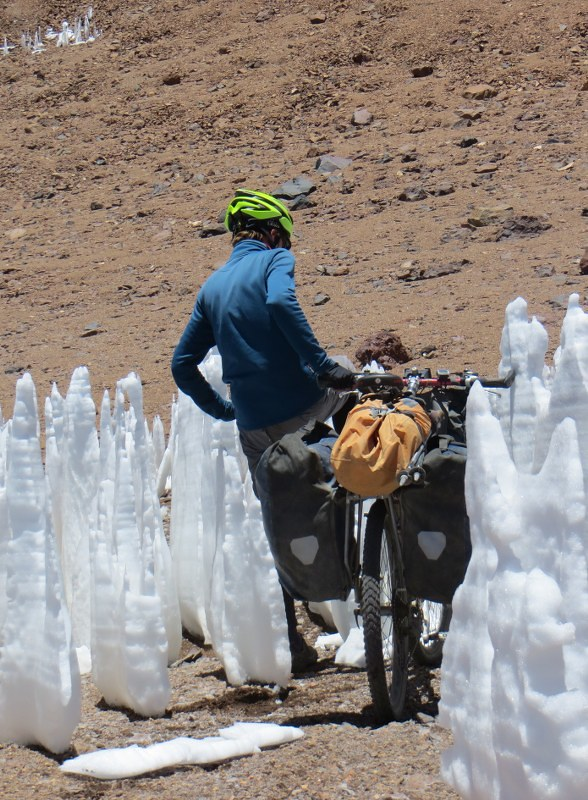 Forcing a path through the penitentes