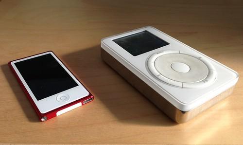 7th gen Nano (16 GB) vs 1st gen Classic (5 GB)