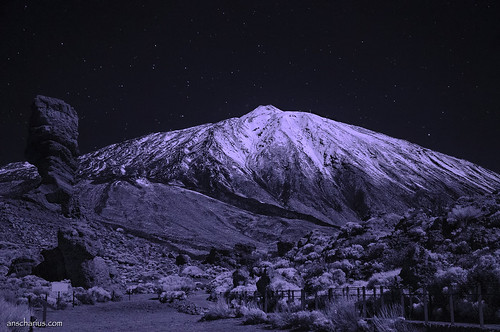 Roque Chinchado & El Teide - Nikon D300 - Infrared 830nm