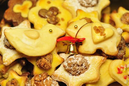 Weihnachten Buttergebäck Plätzchen Weihnachtsgutsel Nikolaus Weihnachtsmann Herz Makronen Eisbär Ente süß