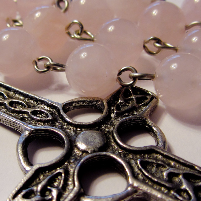 8mm Rose Quartz Anglican Rosary