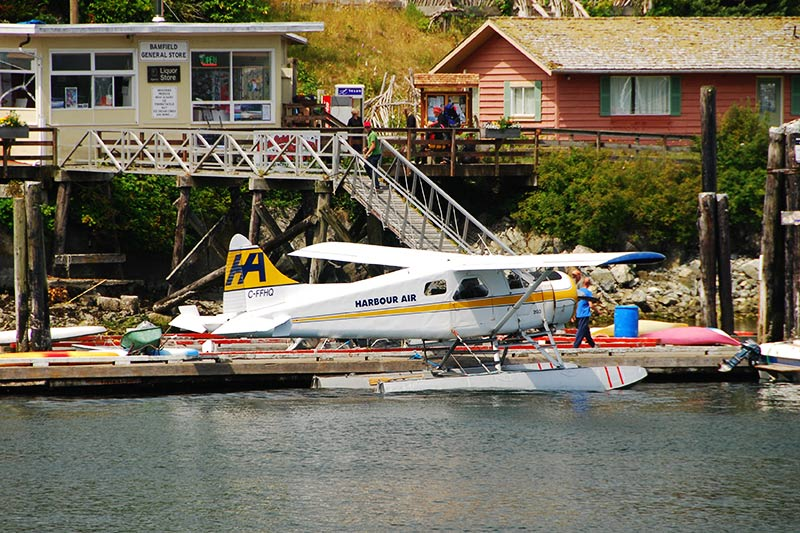 Floatplane in Bamfield, West Coast Vancouver Island, British Columbia