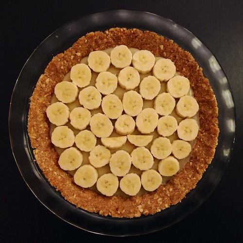 Making banoffee pie