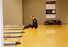 Jan Winborg testar sitt-bowling