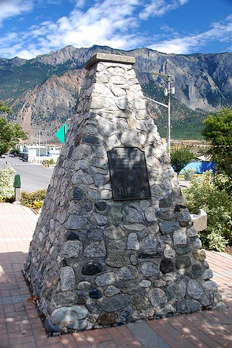 Mile Zero Cairn, Lillooet, Fraser River, Gold Country, Cariboo, British Columbia