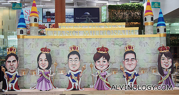 Caricature of the 6 finalists