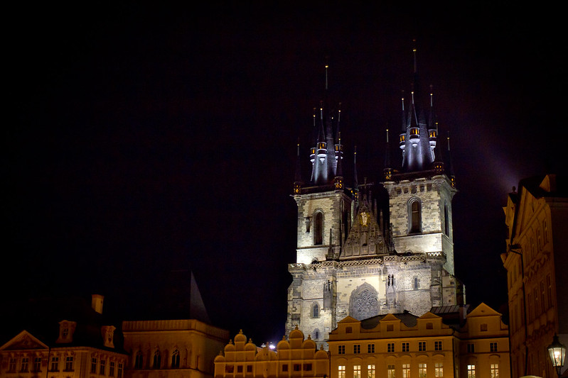 Tuesday, November 5: The Church of Our Lady Before Tyn is another of Prague's gothic beauties.